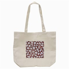 Skin1 White Marble & Reddish Brown Leather Tote Bag (cream) by trendistuff