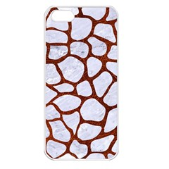 Skin1 White Marble & Reddish Brown Leather Apple Iphone 5 Seamless Case (white) by trendistuff