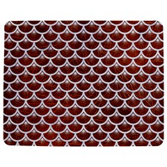 Scales3 White Marble & Reddish Brown Leather Jigsaw Puzzle Photo Stand (rectangular) by trendistuff