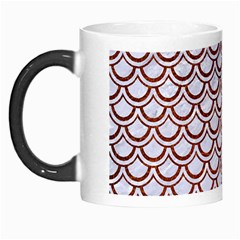 Scales2 White Marble & Reddish Brown Leather (r) Morph Mugs by trendistuff