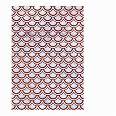 Scales2 White Marble & Reddish Brown Leather (r) Small Garden Flag (two Sides) by trendistuff