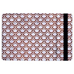 Scales2 White Marble & Reddish Brown Leather (r) Ipad Air 2 Flip by trendistuff