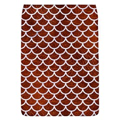 Scales1 White Marble & Reddish Brown Leather Flap Covers (l)  by trendistuff