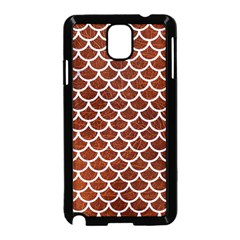 Scales1 White Marble & Reddish Brown Leather Samsung Galaxy Note 3 Neo Hardshell Case (black) by trendistuff