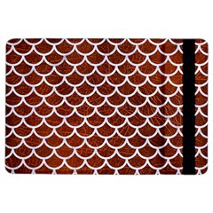 Scales1 White Marble & Reddish Brown Leather Ipad Air 2 Flip by trendistuff