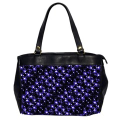 Dark Galaxy Stripes Pattern Office Handbags (2 Sides)  by dflcprints