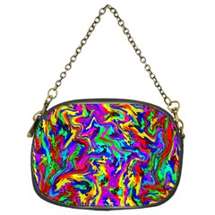 Artwork By Patrick Colorful 18 Chain Purses (two Sides)