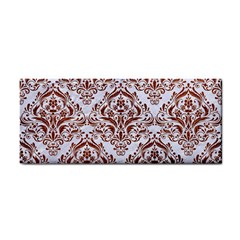 Damask1 White Marble & Reddish Brown Leather (r) Cosmetic Storage Cases by trendistuff