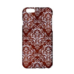 Damask1 White Marble & Reddish Brown Leather Apple Iphone 6/6s Hardshell Case by trendistuff