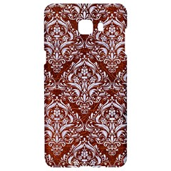 Damask1 White Marble & Reddish Brown Leather Samsung C9 Pro Hardshell Case  by trendistuff