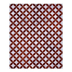 Circles3 White Marble & Reddish Brown Leather (r) Shower Curtain 60  X 72  (medium)  by trendistuff