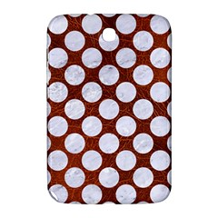 Circles2 White Marble & Reddish Brown Leatherer Samsung Galaxy Note 8 0 N5100 Hardshell Case  by trendistuff