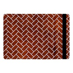 Brick2 White Marble & Reddish Brown Leather Apple Ipad Pro 10 5   Flip Case by trendistuff