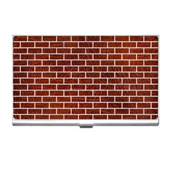 Brick1 White Marble & Reddish Brown Leather Business Card Holders by trendistuff
