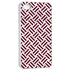 Woven2 White Marble & Red Wood (r) Apple Iphone 4/4s Seamless Case (white) by trendistuff