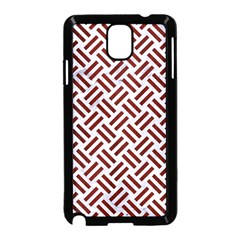 Woven2 White Marble & Red Wood (r) Samsung Galaxy Note 3 Neo Hardshell Case (black) by trendistuff