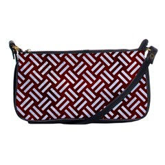 Woven2 White Marble & Red Wood Shoulder Clutch Bags by trendistuff