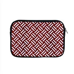 Woven2 White Marble & Red Wood Apple Macbook Pro 15  Zipper Case by trendistuff