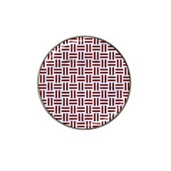 Woven1 White Marble & Red Wood (r) Hat Clip Ball Marker (10 Pack) by trendistuff