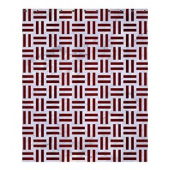 Woven1 White Marble & Red Wood (r) Shower Curtain 60  X 72  (medium)  by trendistuff