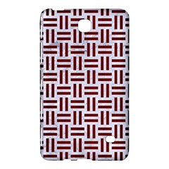 Woven1 White Marble & Red Wood (r) Samsung Galaxy Tab 4 (8 ) Hardshell Case  by trendistuff
