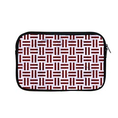 Woven1 White Marble & Red Wood (r) Apple Macbook Pro 13  Zipper Case by trendistuff