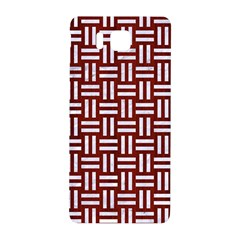 Woven1 White Marble & Red Wood Samsung Galaxy Alpha Hardshell Back Case by trendistuff