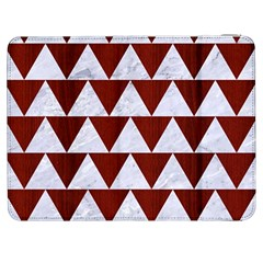 Triangle2 White Marble & Red Wood Samsung Galaxy Tab 7  P1000 Flip Case by trendistuff