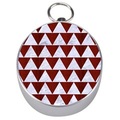 Triangle2 White Marble & Red Wood Silver Compasses by trendistuff