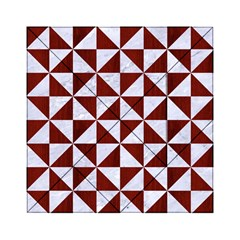 Triangle1 White Marble & Red Wood Acrylic Tangram Puzzle (6  X 6 ) by trendistuff