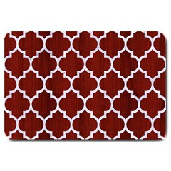 Tile1 White Marble & Red Wood Large Doormat  by trendistuff