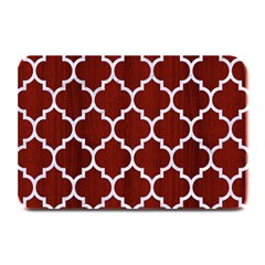 Tile1 White Marble & Red Wood Plate Mats by trendistuff