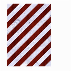 Stripes3 White Marble & Red Wood (r) Large Garden Flag (two Sides) by trendistuff