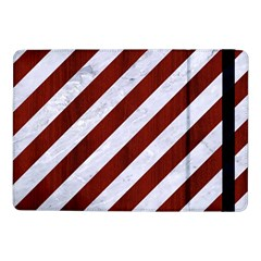 Stripes3 White Marble & Red Wood (r) Samsung Galaxy Tab Pro 10 1  Flip Case by trendistuff