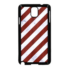 Stripes3 White Marble & Red Wood (r) Samsung Galaxy Note 3 Neo Hardshell Case (black) by trendistuff