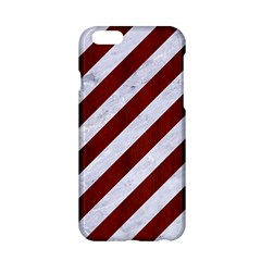Stripes3 White Marble & Red Wood (r) Apple Iphone 6/6s Hardshell Case by trendistuff