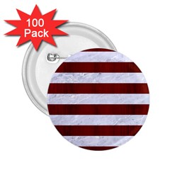 Stripes2white Marble & Red Wood 2 25  Buttons (100 Pack)