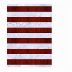 Stripes2white Marble & Red Wood Large Garden Flag (two Sides) by trendistuff
