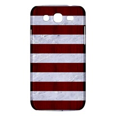 Stripes2white Marble & Red Wood Samsung Galaxy Mega 5 8 I9152 Hardshell Case  by trendistuff