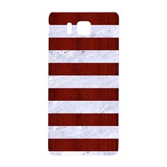 Stripes2white Marble & Red Wood Samsung Galaxy Alpha Hardshell Back Case by trendistuff