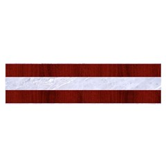 Stripes2white Marble & Red Wood Satin Scarf (oblong) by trendistuff