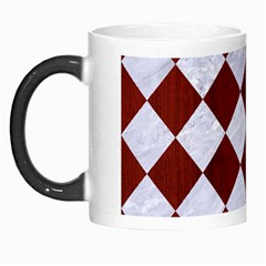 Square2 White Marble & Red Wood Morph Mugs by trendistuff