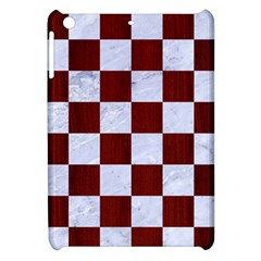 Square1 White Marble & Red Woodsquare1 White Marble & Red Wood Apple Ipad Mini Hardshell Case by trendistuff