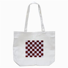 Square1 White Marble & Red Woodsquare1 White Marble & Red Wood Tote Bag (white) by trendistuff
