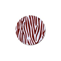 Skin4 White Marble & Red Wood Golf Ball Marker (10 Pack) by trendistuff