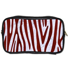 Skin4 White Marble & Red Wood Toiletries Bags by trendistuff