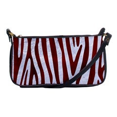 Skin4 White Marble & Red Wood Shoulder Clutch Bags by trendistuff