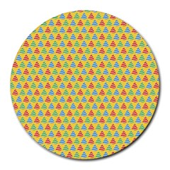 xmas0006 Round Mousepad by alannow