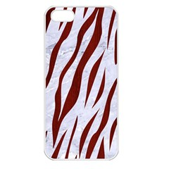 Skin3 White Marble & Red Wood (r) Apple Iphone 5 Seamless Case (white) by trendistuff