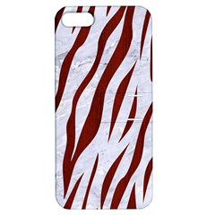 Skin3 White Marble & Red Wood (r) Apple Iphone 5 Hardshell Case With Stand by trendistuff